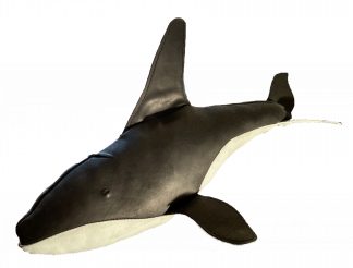 Leather Orca or Killer Whale from the Greenland Fishery Project