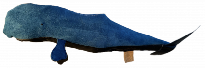 Blue Suede Leather Sperm Whale