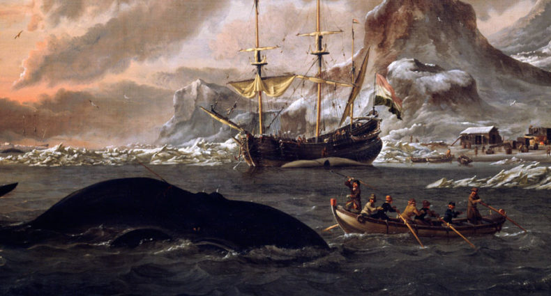 Dutch whalers near Spitsbergen