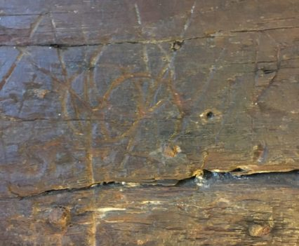 Witches' marks at The Greenland Fishery in King's Lynn