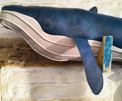 Blue leather Humpback whale from The Greenland Fishery Project