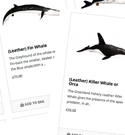The Greenland Fishery Stores - online sales of Leather Whales