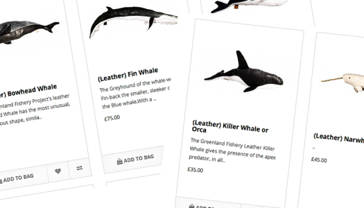 Leather Whales – the Greenland Fishery Stores are open