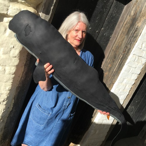 Greenland Fishery Project extra-large Black (leather) Sperm Whale