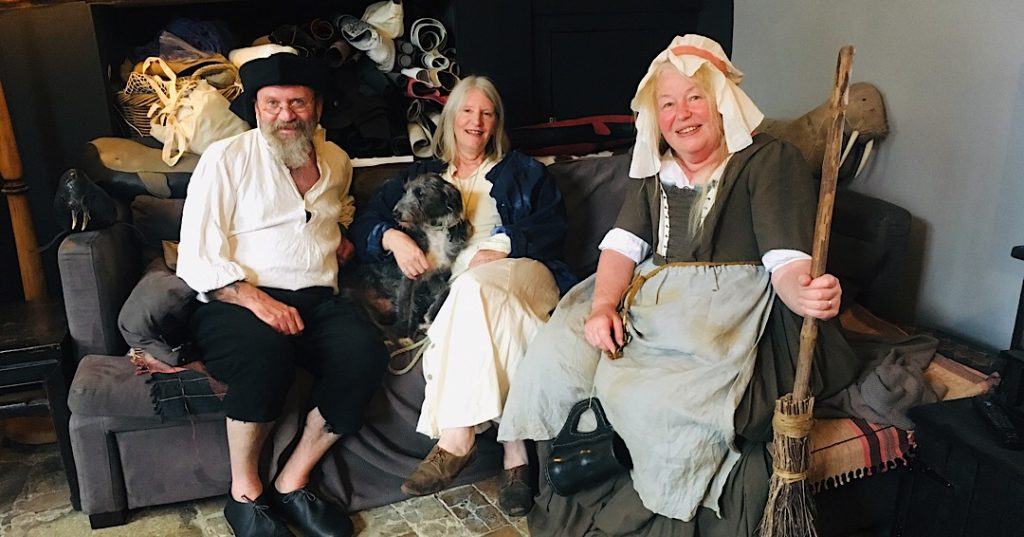 Jon, Flossie, Vickie and our visiting Tavern maid