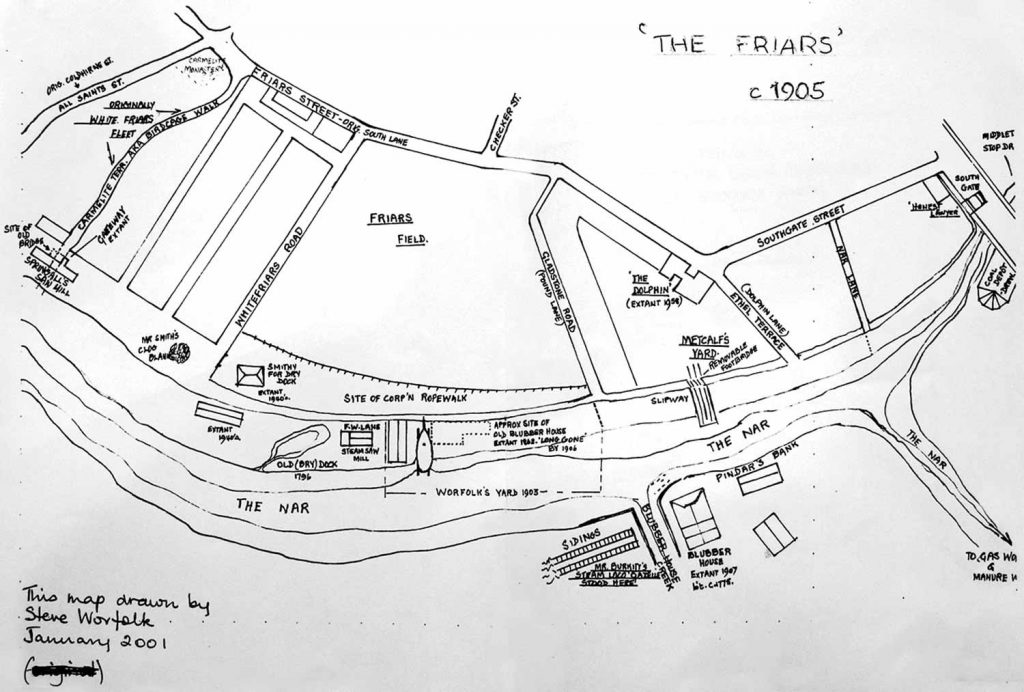Steve Worfolk's map of The Friar's 1906