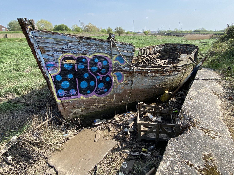 The Joal, abandoned in Boal Quay, King's Lynn