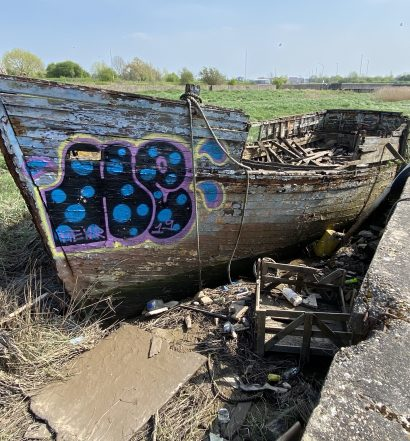 The Joal, abandoned in Boal Quay, King's Lynn