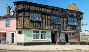 The Greenland Fishery; one of the last surviving jettied timber-framed Jacobean buildings in King' Lynn